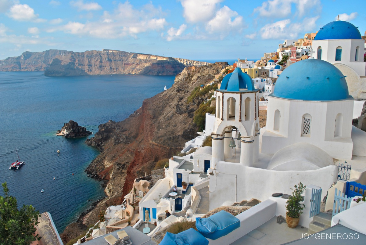 santorini greece sightseeing tour food and travel moments