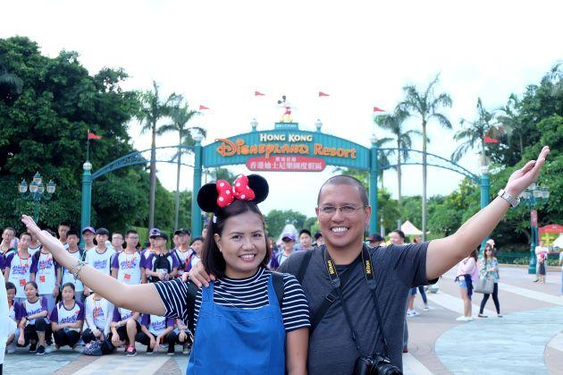 Derick & Joy Disneyland HK 1