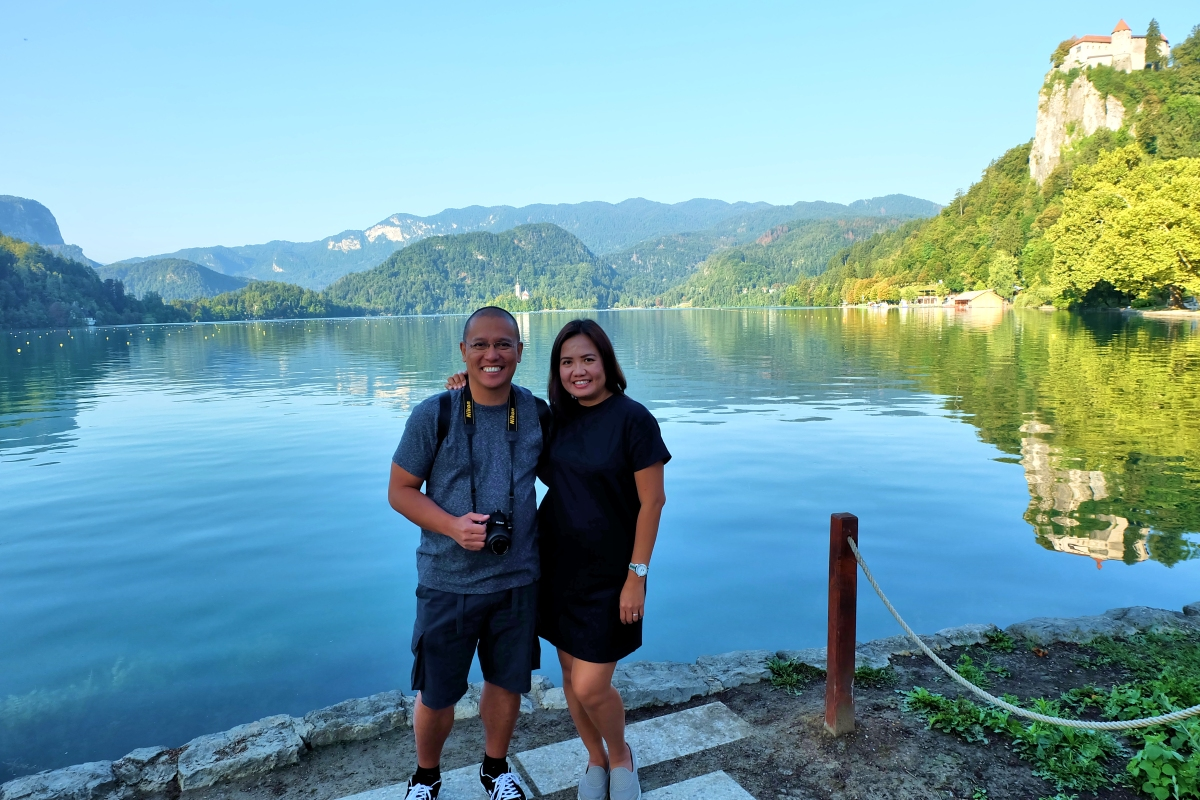 Derick & Joy at Lake Bled