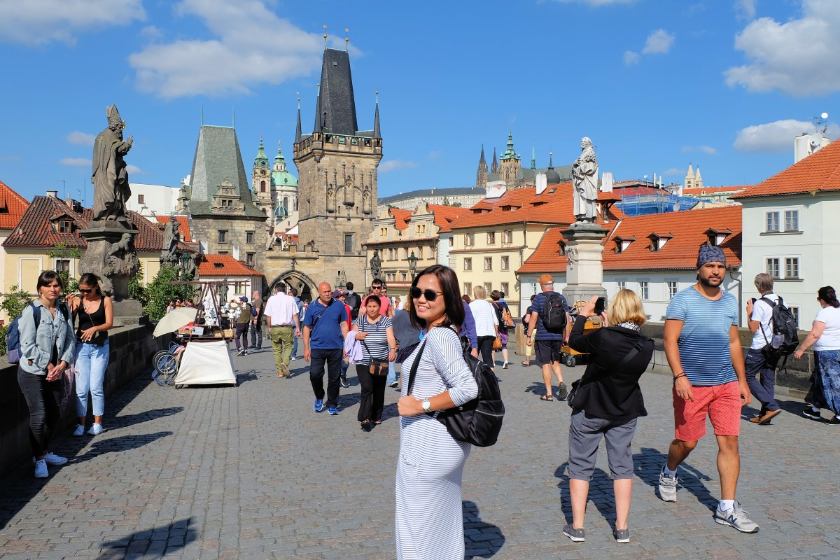 Joy at Charles Bridge