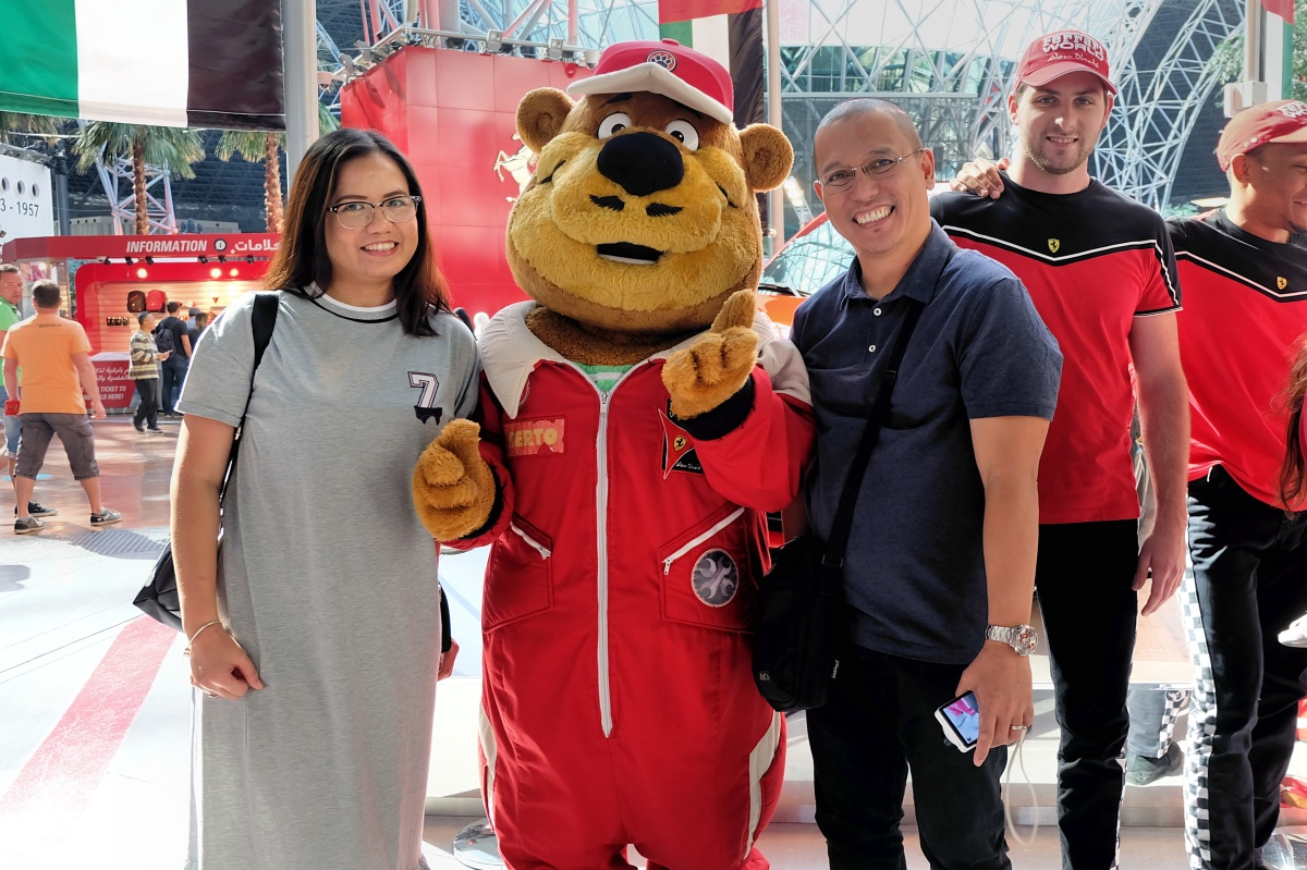 With theFerrari mascot